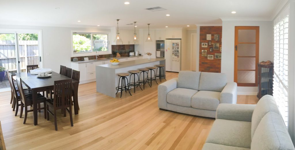 After Open Plan Home Renovations